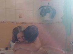 Orgasm in bathroom