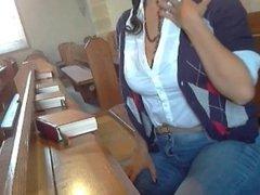 Anal Dildo in Church