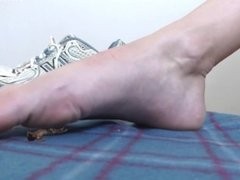 Foot Slave in Giantess Gym Shoe