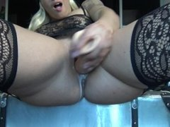 ACAB - All Cops Are Bitches - Blonde Horny French Teen In Police Costum