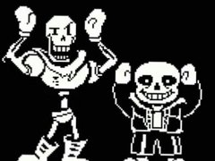 Sans and Papyrus caramella dance to sinful music