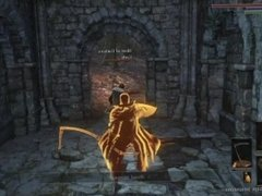 a guy and girl taking on 3 masked guys dark souls 3 gameplay abyss watchers