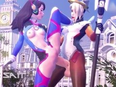 Mercy X D.VA (Futa) SFM Animation