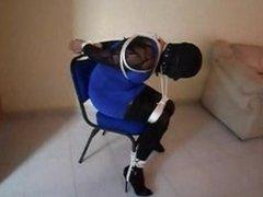 Karina atada a una silla, parte 2