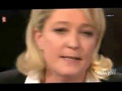 Melenchon destroys blonde MILF in public