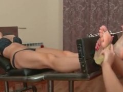 Very hot girl tickled