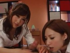 Sluty Japanese massage girls POV