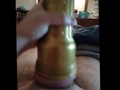 Masturbating Big Cock with Fleshlight from Phone POV On Loop For You