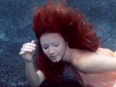 Underwater red hair