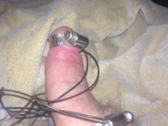 Estim cumshot again. No hands