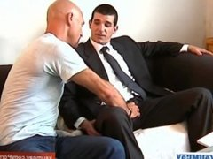 Marc innocent straight vendor serviced his big cock by a guy!