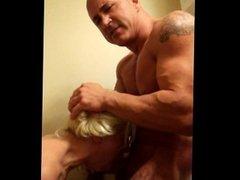 Submissive slut gets throat fucked