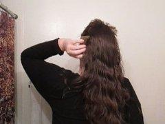 Hair Journal: Combing Long Curly Strawberry Blonde Hair - Week 18 (ASMR)