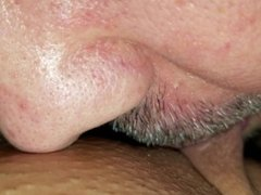 Pussy Sucking Video PART Two - close up Shaved pussy clit sucking & licking