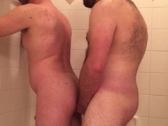 bears fuck in the shower