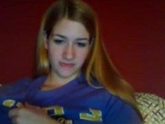 Hot amateur blonde babe on webcam