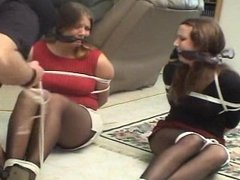 Tied Up and Tape Gagged by Two Girls