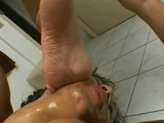 Vivian Blond Foot Gagging