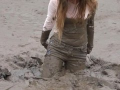 jeans in mud