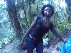 Caught Head At The River - Blowjob Deepthroat Carla Cain Ebony Afro Swallow