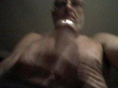 Dad jerking off and cum.