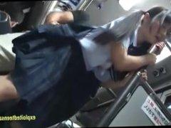Jav Schoolgirl Ambushed On Public Bus Fucked Standing Up In Her Uniform