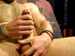 Jerking off a Gorgeous European Cock