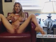 Perfect body big tits MILF home alone dreaming of cock. Hot webcam show
