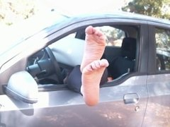 Hot feet sexy wrinkled soles huge long soles pointed toes