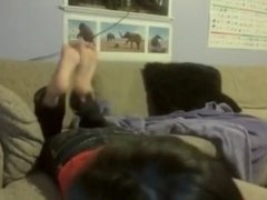 Beautiful Asian Teen Shows Soles in The Pose (webcam)