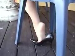 Nylon and Heels shoe play