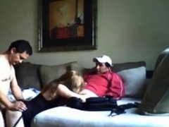 Cheating wife hooks up with two guys