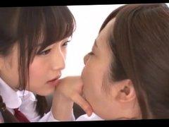 japanese girl long tongue kissing