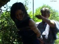 Asian Japanese girl tied tight bondage