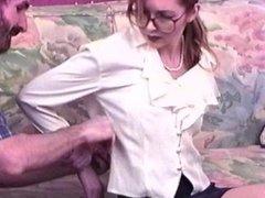 Bondage Girl tied tight by man