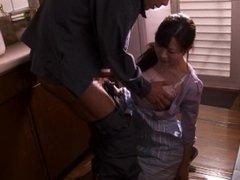 Misaki Honda Kitchen Blowjob
