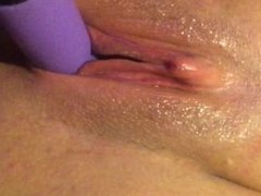 Fucking My Tight Wet Pussy With Vibrating Dildo