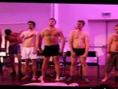 Guys hypnotised to strip naked on stage