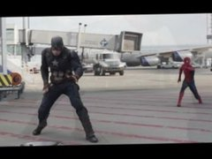 captain america civil war airport battle but spiderman speaks italian