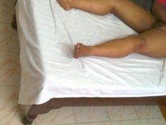 Indian Wife Getting Message While Husband Watches [Part 1]