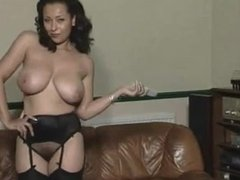 Danica Collins strip tease /surprise joi