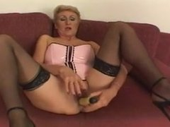 Horny Granny Fucked by young Stud