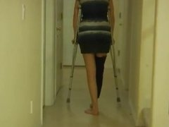 Pizza, Crutches and Hurt Foot