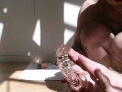 The Big Anal Challenge for straight guy: wood, glass, metal, skin, zucchini