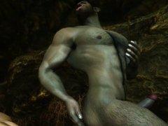 Skyrim: Khoran and the Mini Orc