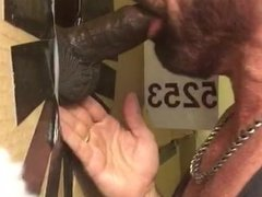 White Philly Stud Swallows Thick Black Dick