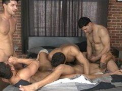 5 Guys, 1 Bed (Part 1) - Dante F, Diego S, Jorge F, Nicco S, Raphael C
