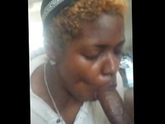 Annie sucking big dick