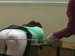 British schoolgirl disciplined by lady teacher for smoking