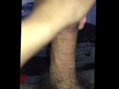 Jerking my big cock for yall lol